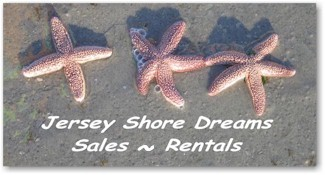 Jersey Shore Dreams Real Estate and Sales Banner